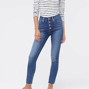 J. Crew Button Fly High Rise Skinny Jeans 28